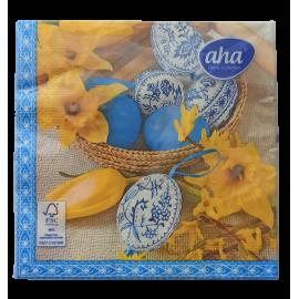 Serwetki stołowe Wielkanoc Jajka i żonkile AHA