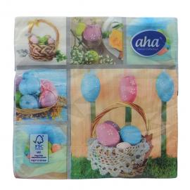 Serwetki stołowe Wielkanoc Pastelowe jajka AHA
