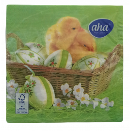 Serwetki stołowe Wielkanoc Pisklęcia z pisankami AHA