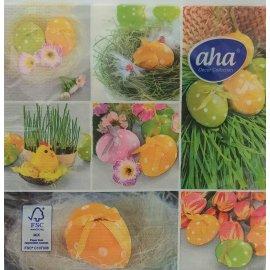 Serwetki stołowe Wielkanoc Pisanki na trawie AHA