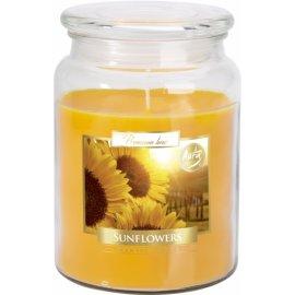 Świeca zapachowa w szkle z wieczkiem Słonecznik
