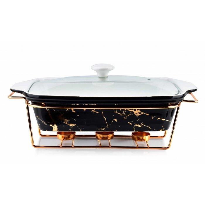 Naczynie podgrzewacz prostokąt Elegant Kitchen 3L