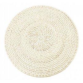 Mata stołowa Rattan Lucia 37cm kremowa ODELO