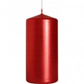 Świeca walec czerwona metaliczna 50/100 mm Bispol