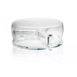 Salaterka trójdzielna szklana 20cm EDWANEX