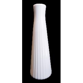 Wazon biały prążkowany 20cm Camomile Lubiana