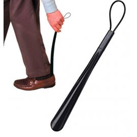 Łyżka do butów czarna długa elegancka 46cm
