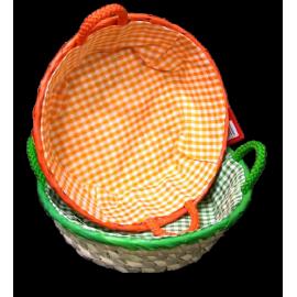 Koszyk kolorowy Palma okrągły Domotti