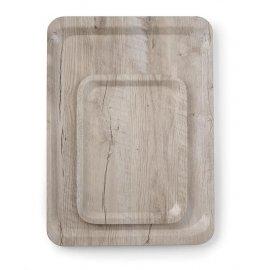 Taca do serwowania 330x430 mm z nadrukiem drewna jasny dąb