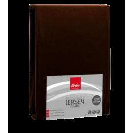 Prześcieradło Jersey z gumką 220x200 czekolada Miss Lucy