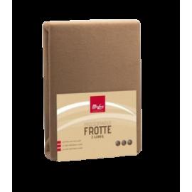 Prześcieradło beżowe Frotte z gumką 220x200
