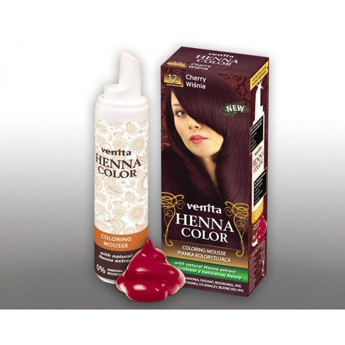 Koloryzująca pianka do włosów z henny Venita