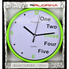 Zegar ścienny zielony 20