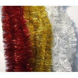 Girlanda 2 metry/7,5 cm czerwona, złota lub srebrna